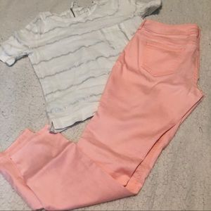 Maurices Neon Coral Pink Jeggings